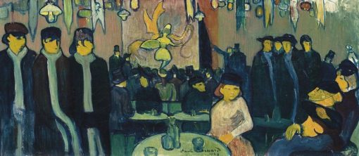 At Le Tabarin (also known as Cabaret in Paris)   Emile Bernard   Oil Painting