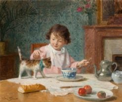Breakfast with a friend | Victor Gabriel Gilbert | Oil Painting