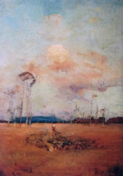 The Drover   Sydney Long   Oil Painting