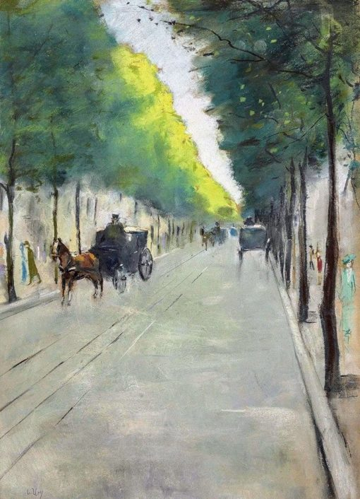 Street with Carriages in the Tiergarten