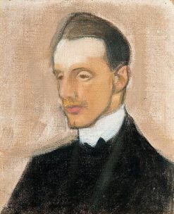 Einar Reuter (also known as Study in Brown) | Helene Schjerfbeck | Oil Painting