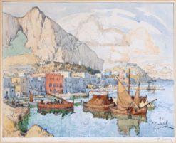 View of Capri   Konstantin Gorbatov   Oil Painting