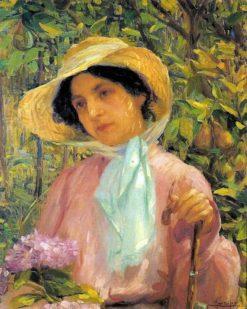 Portrait of Georgina de Albuquerque   Lucilio de Albuquerque   Oil Painting