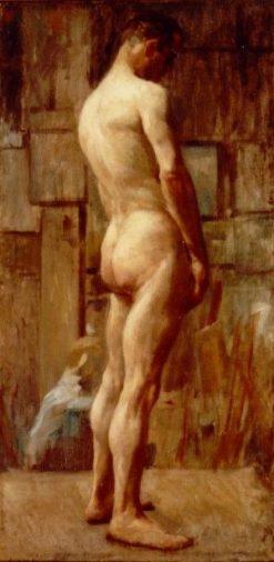 Male Nude   Lucilio de Albuquerque   Oil Painting