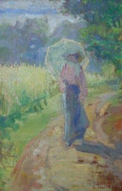 Landscape of Le Mesnil | Lucilio de Albuquerque | Oil Painting