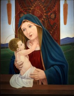 Madonna del grano | Natalino Bentivoglio Scarpa | Oil Painting