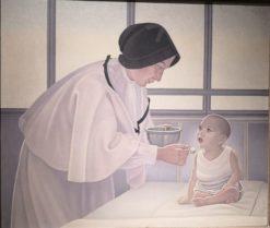 The Nurse | Natalino Bentivoglio Scarpa | Oil Painting