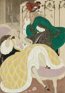 An elegant couple in a rococo interior | Gerda Wegener | Oil Painting