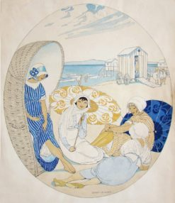 Four Women at the Beach | Gerda Wegener | Oil Painting