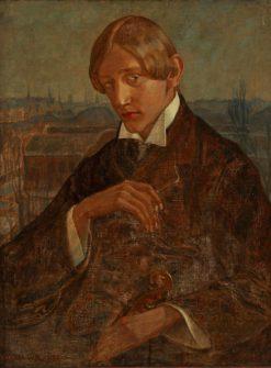 Musician smoking a cigarette | Gerda Wegener | Oil Painting