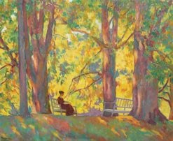 Woman in the Park | Ion Theodorescu-Sion | Oil Painting