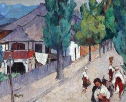 Street in Curtea de Arges | Ion Theodorescu-Sion | Oil Painting