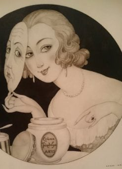 Woman with mask | Gerda Wegener | Oil Painting