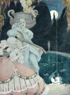 Elegant Lady and Pierrot | Gerda Wegener | Oil Painting