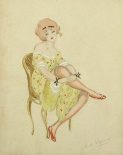 Girl with red shoes | Gerda Wegener | Oil Painting