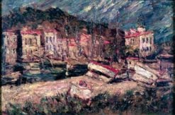 Port of Cassis | Adolphe-Joseph-Thomas Monticelli | Oil Painting