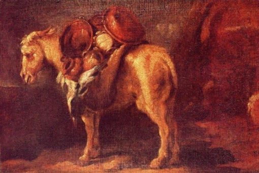 A horse with pots of copper and clay | Pedro Orrente | Oil Painting