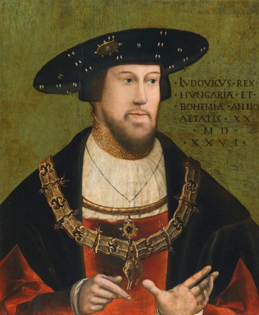 Portrait of King Louis II of Hungary and Bohemia   German School th Century Unknown   Oil Painting