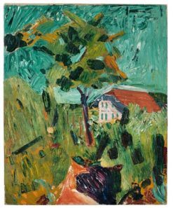 Posthaus Oschwand (also known as View from Amiets' Summer Garden to the Posthaus Oschwnand) | Cuno Amiet | Oil Painting