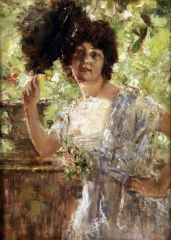 Portrait of a Young Lady | Antonio Mancini | Oil Painting
