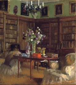 The library at Tyninghame | Patrick William Adam | Oil Painting