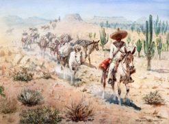 Vaquero Pack Train | Edward Borein | Oil Painting