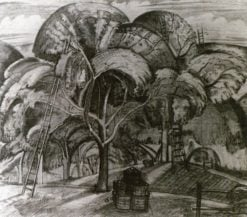 Drawing of an Orchard | Paul Nash | Oil Painting