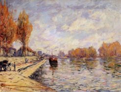 The Seine at Suresnes | Alfred Sisley | Oil Painting