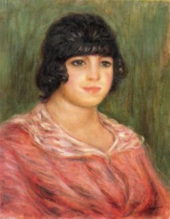 Young Girl in a Red Blouse | Pierre Auguste Renoir | Oil Painting