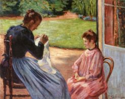 Madame Guillaumin and Her Daughter   Armand Guillaumin   Oil Painting