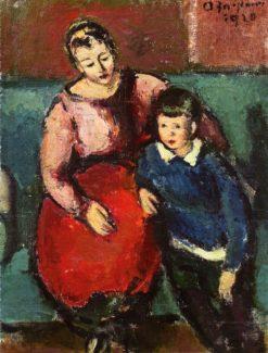 Woman with Boy (Peter)   Anton Faistauer   Oil Painting