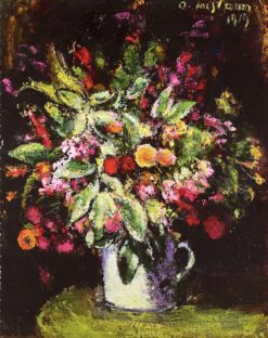 Floral Still Life   Anton Faistauer   Oil Painting