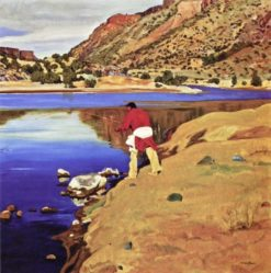 Along the Rio Grande | Walter Ufer | Oil Painting
