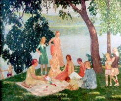 The Picnic   Rae Sloan Bredin   Oil Painting