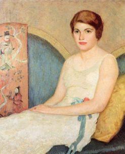 Portrait of Mrs. S (Jane P. Sienkiewicz)   Rae Sloan Bredin   Oil Painting