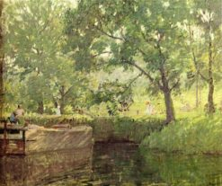 Canal in Winter   Rae Sloan Bredin   Oil Painting