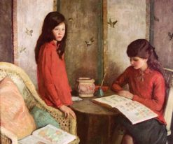 The Stamp Collectors   Rae Sloan Bredin   Oil Painting