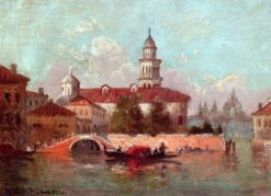 A Bit of Venice   Walter Frank Lansil   Oil Painting