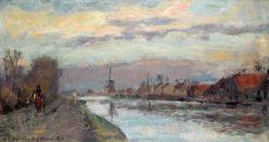 Landscape of Delfshaven | Albert Lebourg | Oil Painting