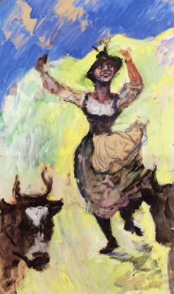Bavarian Girl Dancing | Lovis Corinth | Oil Painting