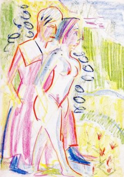 Man and Woman in a Landscape | Ernst Ludwig Kirchner | Oil Painting