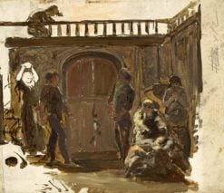 Sketch for 'The Quarrel' | Paul Falconer Poole | Oil Painting