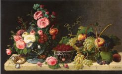 Flowers and Fruit | Severin Roesen | Oil Painting