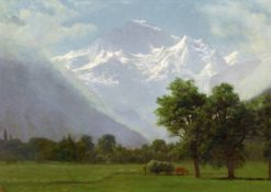 Mountain Landscape | Albert Bierstadt | Oil Painting