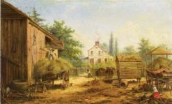 Barnyard in Pennsylvania   Edward Lamson Henry   Oil Painting