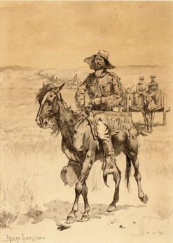 On the Way to the Platte | Frederic Remington | Oil Painting