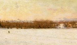 Windy Day After a Snowstorm   Jervis McEntee   Oil Painting