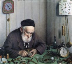 The Clockmaker | Yehuda Pen | Oil Painting