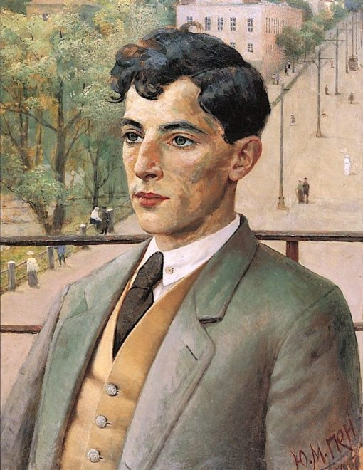 Portrait of a Young Man   Yehuda Pen   Oil Painting