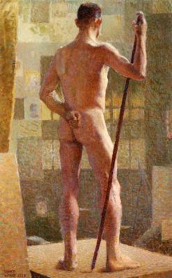 The Spotted Man | Grant Wood | Oil Painting